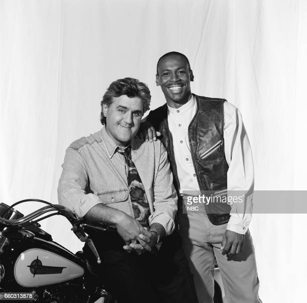 Host Jay Leno Posing for a portrait with Band Leader