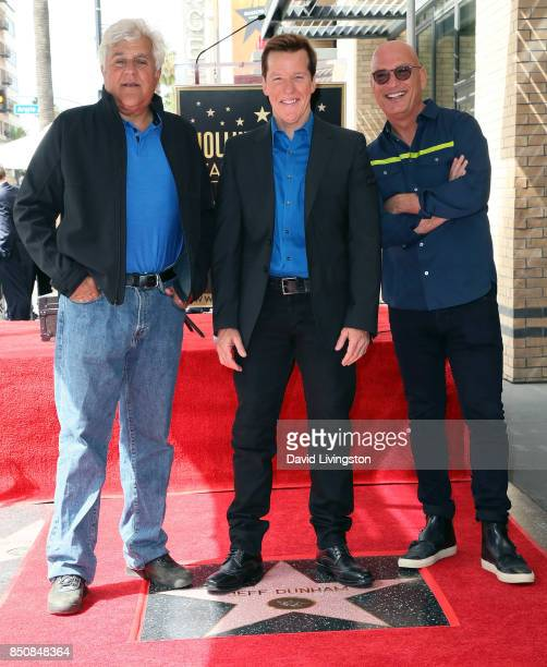 TV host Jay Leno ventriloquist Jeff Dunham and comedian Howie Mandel attend Jeff Dunham being honored with a Star on the Hollywood Walk of Fame on...