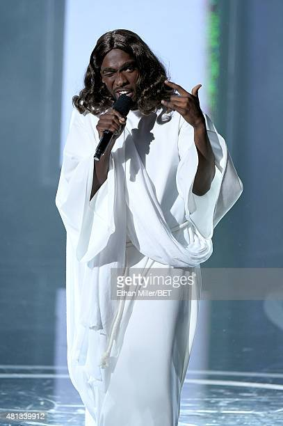 Host Jay Pharaoh performs onstage during The Players' Awards presented by BET at the Rio Hotel Casino on July 19 2015 in Las Vegas Nevada