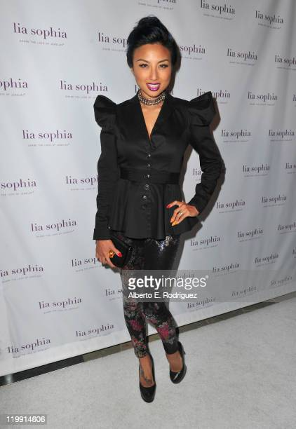 TV host Jeannie Mai arrives to the unveiling of lia sophia's latest jewelry creations at the Sunset Marquis Hotel on July 26 2011 in West Hollywood...