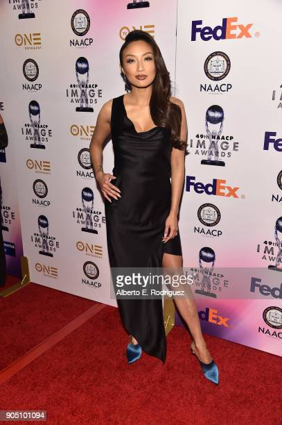 TV host Jeannie Mai attends the 49th NAACP Image Awards NonTelevised Award Show at The Pasadena Civic Auditorium on January 14 2018 in Pasadena...