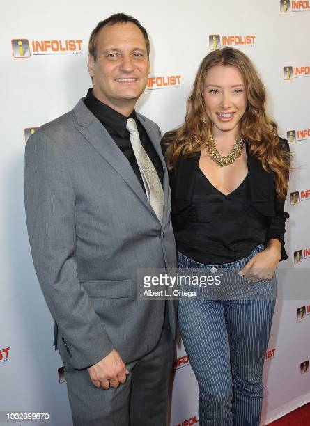 Host Jeff Gund and actress Alexandra Vino arrive for the INFOListcom PreEmmy Soiree held at SkyBar at the Mondrian Los Angeles on September 12 2018...