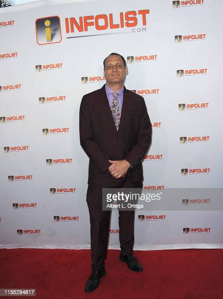 Host Jeff Gund attends InfoListcom's PreComicCon Bash held at Wisdome Immersive Art Park on July 11 2019 in Los Angeles California