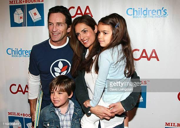 TV host Jeff Probst actress Lisa Ann Russell and her children Michael Gosselaar and Ava Gosselaar attend the 2nd Annual Milk Bookies Story Time...