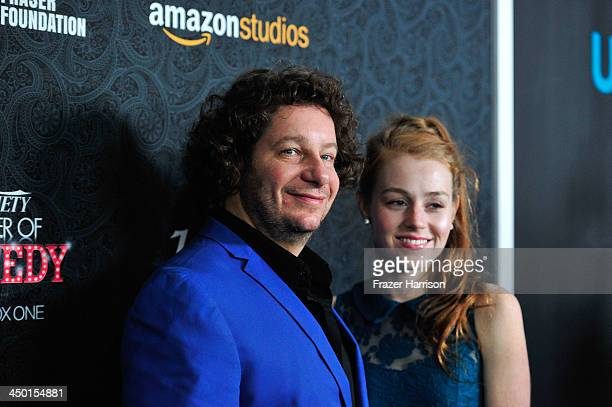 Host Jeff Ross and Kate Blanch attend Variety's 4th Annual Power of Comedy presented by Xbox One benefiting the Noreen Fraser Foundation at Avalon on...