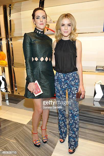 Host Jena Malone and actress Kiernan Shipka attends The Anya Hindmarch Service Station Collection hosted by Barneys New York along with Jena Malone...