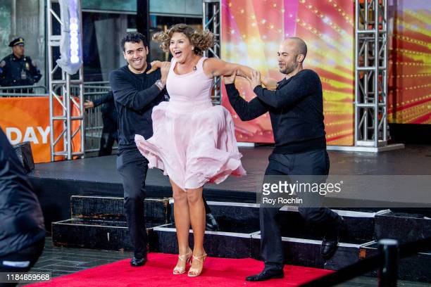 "Host Jenna Bush dressed as Frances 'Baby' Houseman of ""Dirty Dancing"" during NBC's ""Today"" Halloween Celebration at Rockefeller Plaza on October 31,..."