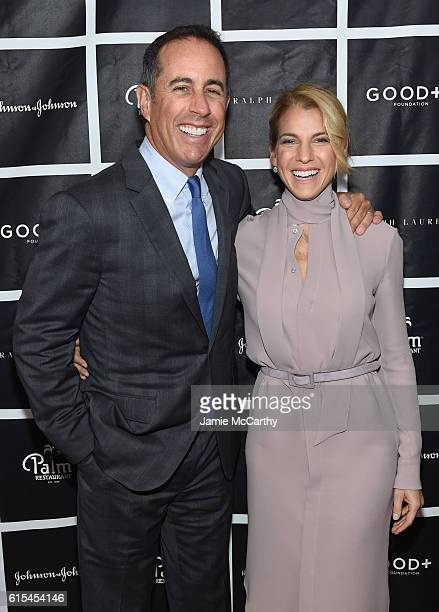 Host Jerry Seinfeld and Founder and President of GOOD Foundation Jessica Seinfeld attend the New York Fatherhood Lunch to benefit GOOD Foundation on...