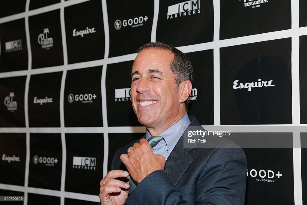 Host Jerry Seinfeld attends the 2nd annual Los Angeles Fatherhood Lunch to benefit GOOD+FOUNDATION at The Palm Restaurant on April 20, 2016 in Beverly Hills, California.