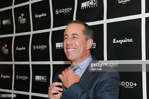 Host Jerry Seinfeld attends the 2nd annual Los Angeles Fatherhood Lunch to benefit GOODFOUNDATION at The Palm Restaurant on April 20 2016 in Beverly...