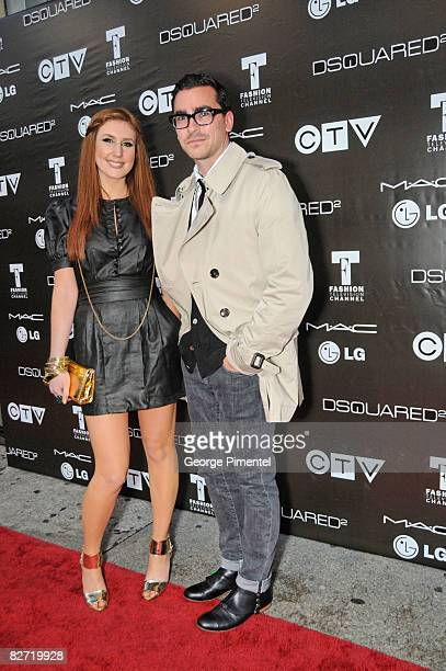 MTV host Jessi Cruickshank and Dan Levy attend the MAC GOLD FEVER AFTER PARTY at the Chum/City TV Building on September 7 2008 in Toronto Canada