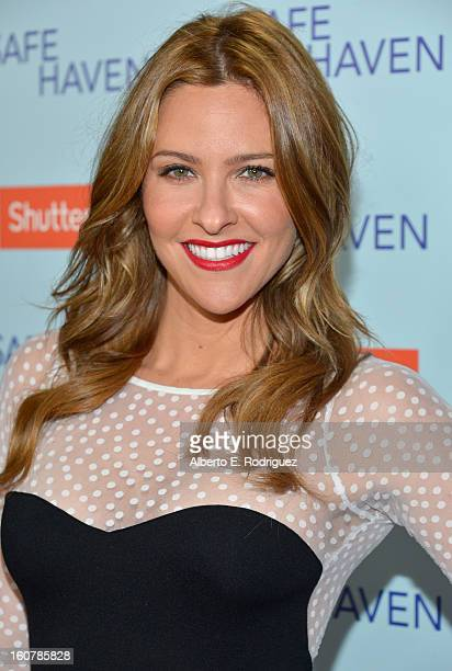 Host Jill Wagner arrives at the premiere of Relativity Media's 'Safe Haven' at TCL Chinese Theatre on February 5 2013 in Hollywood California