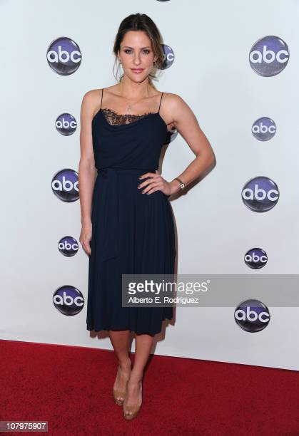 TV host Jill Wagner arrives to Disney ABC Television Group's TCA Winter Press Tour on January 10 2011 in Pasadena California