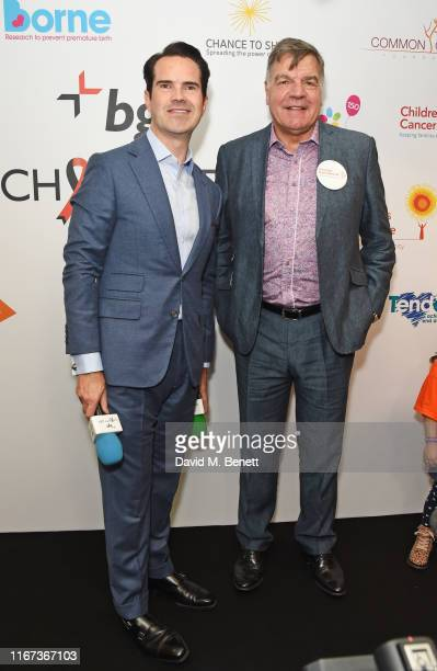 Host Jimmy Carr and Sam Allardyce representing Muscular Dystrophy UK attend BGC Charity Day at One Churchill Place on September 11 2019 in London...