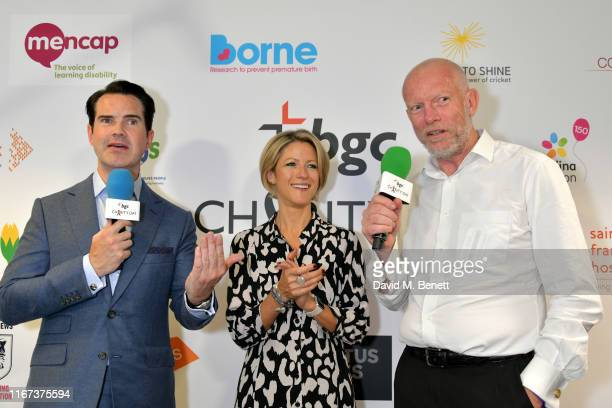 Host Jimmy Carr Jacqui Oatley representing The Sir Stanley Matthews Foundation and guest attend BGC Charity Day at One Churchill Place on September...