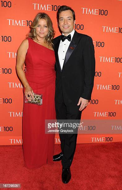 TV host Jimmy Fallon and Nancy Juvonen attend the 2013 Time 100 Gala at Frederick P Rose Hall Jazz at Lincoln Center on April 23 2013 in New York City