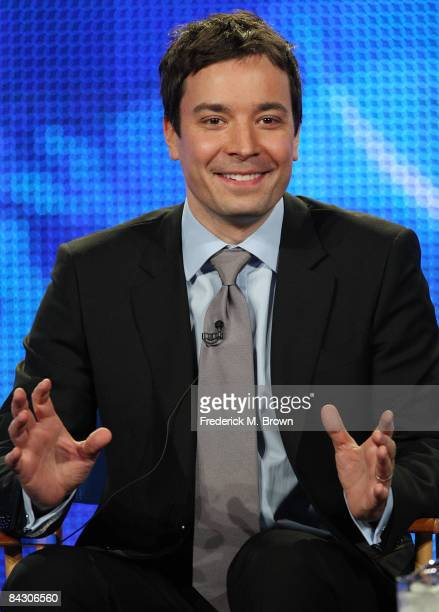 Host Jimmy Fallon of the television show Late Night with Jimmy Fallon attends the NBC Universal portion of the 2009 Winter Television Critics...