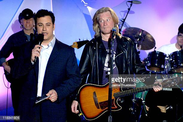 Host Jimmy Kimmel and Daryl Hall on the Jimmy Kimmel Live show on ABC Photo by Jaimie Trueblood/WireImage/ABC
