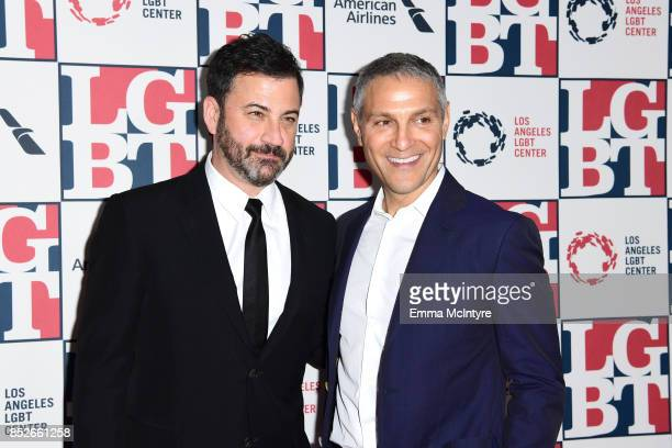 Host Jimmy Kimmel and honoree Ariel Emanuel attend Los Angeles LGBT Center's 48th Anniversary Gala Vanguard Awards at The Beverly Hilton Hotel on...