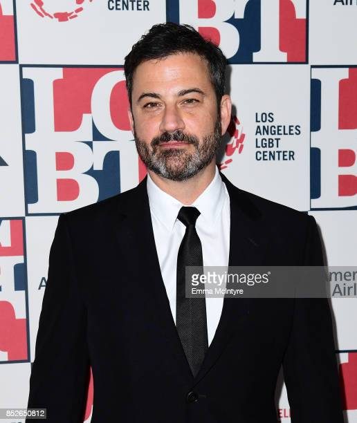 Host Jimmy Kimmel attends Los Angeles LGBT Center's 48th Anniversary Gala Vanguard Awards at The Beverly Hilton Hotel on September 23 2017 in Beverly...