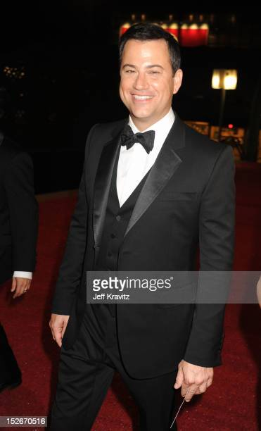 Host Jimmy Kimmel attends the 64th Primetime Emmy Awards Governors Ball at Los Angeles Convention Center on September 23, 2012 in Los Angeles,...
