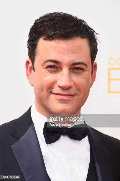 TV host Jimmy Kimmel attends the 66th Annual Primetime Emmy Awards held at Nokia Theatre LA Live on August 25 2014 in Los Angeles California