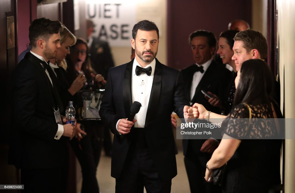 Host Jimmy Kimmel backstage during the 89th Annual Academy Awards at Hollywood & Highland Center on February 26, 2017 in Hollywood, California.
