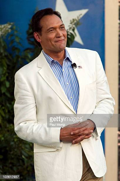 """Host Jimmy Smits at the annual PBS """"A Capitol Fourth"""" concert rehearsal at the US Capitol on July 3, 2010 in Washington, DC."""