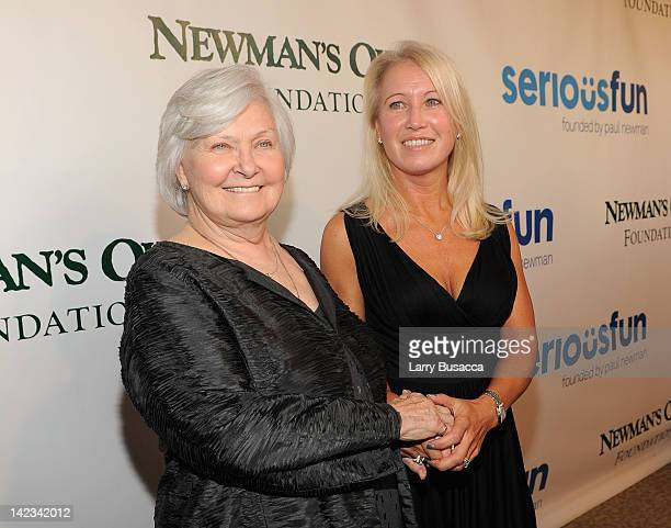 Host Joanne Woodward and Claire Newman attend a Celebration of Paul Newman's Dream to Benefit the SeriousFun Children's Network at Avery Fisher Hall...