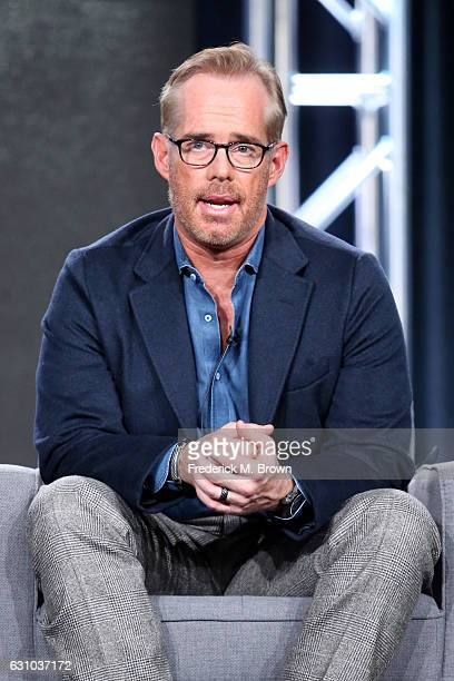 Host Joe Buck of ATT's Undeniable with Joe Buck speaks onstage during day one of the 2017 Winter TCA Tour at Langham Hotel on January 5 2017 in...