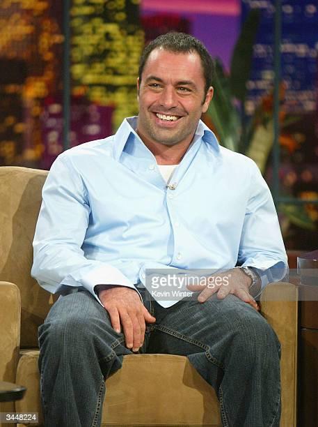 "Host Joe Rogan appears on ""The Tonight Show with Jay Leno"" at the NBC Studios on April 19, 2004 in Burbank, California."