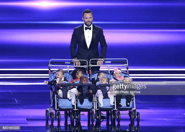 Host, Joel McHale during the PEOPLE'S CHOICE AWARDS 2017, the only major awards show where fans determine the nominees and winners across categories...