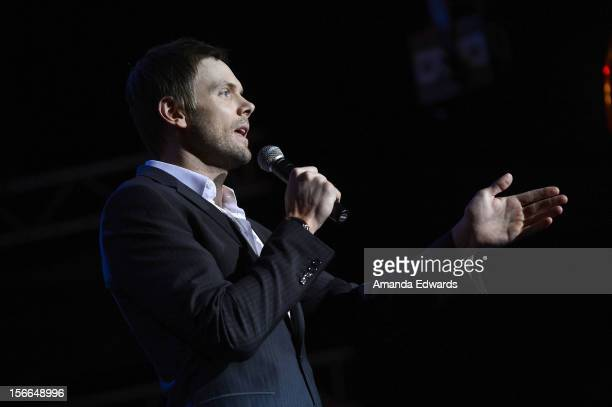 Host Joel McHale speaks onstage at Variety's 3rd annual Power of Comedy event presented by Bing benefiting the Noreen Fraser Foundation held at...