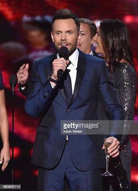 Host Joel McHale speaks onstage during The 2015 ESPYS at Microsoft Theater on July 15 2015 in Los Angeles California