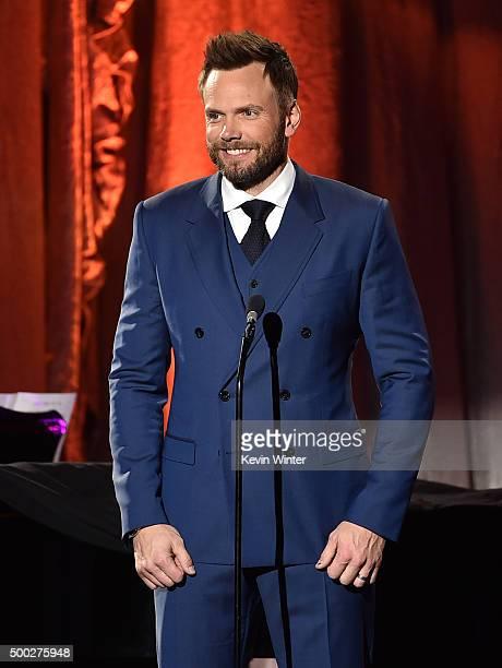 Host Joel McHale speaks onstage during TrevorLIVE LA 2015 at Hollywood Palladium on December 6 2015 in Los Angeles California