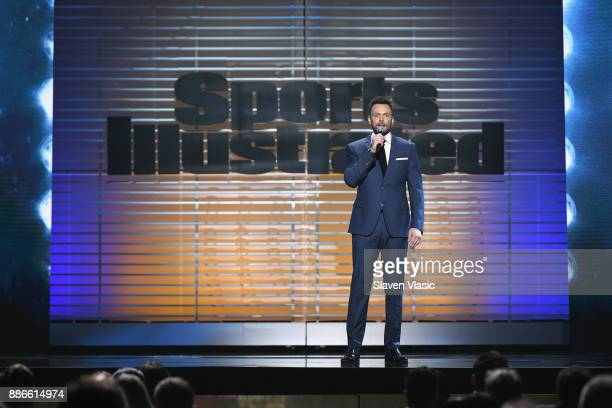 Host Joel McHale speaks onstage SPORTS ILLUSTRATED 2017 Sportsperson of the Year Show on December 5 2017 at Barclays Center in New York City Tune in...