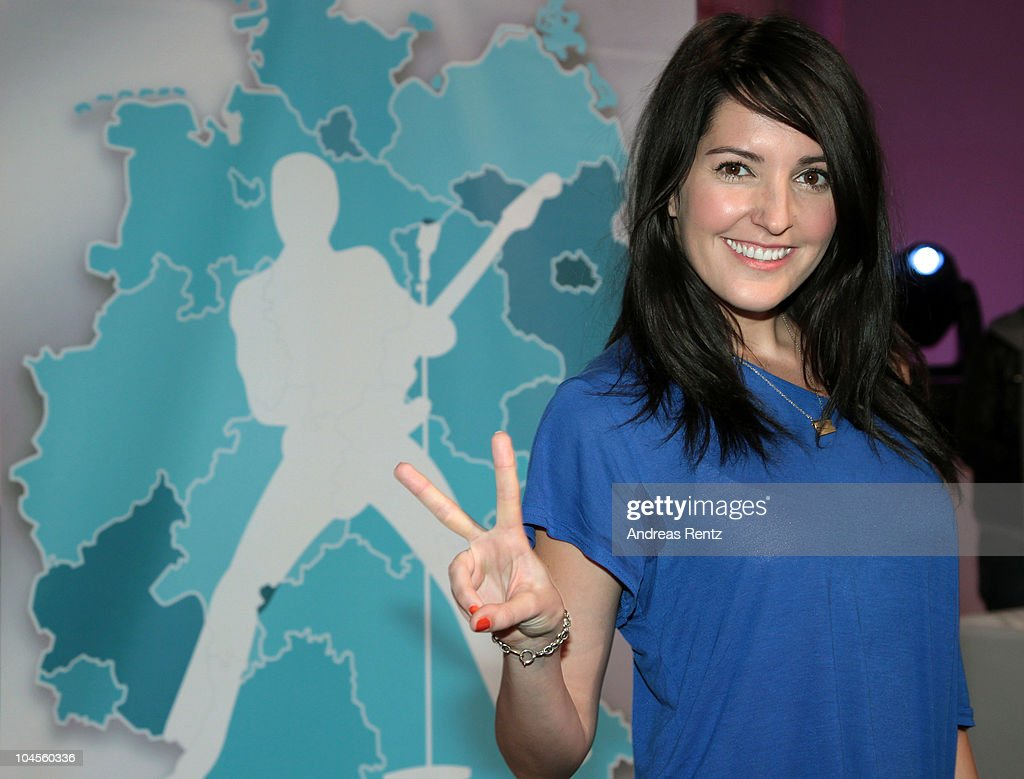 TV host Johanna Klum attends a press conference to promote the 'Bundesvision Song Contest 2010' at the Max-Schmeling Hall on September 30, 2010 in Berlin, Germany.