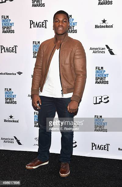 Host John Boyega attends the 31st Film Independent Spirit Awards Nominations Press Conference at W Hollywood on November 24 2015 in Hollywood...
