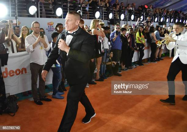 Host John Cena at Nickelodeon's 2017 Kids' Choice Awards at USC Galen Center on March 11 2017 in Los Angeles California