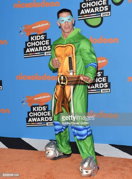Host John Cena attends Nickelodeon's 2018 Kids' Choice Awards at The Forum on March 24 2018 in Inglewood California