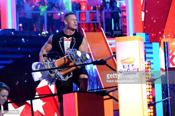 Host John Cena onstage at Nickelodeon's 2017 Kids' Choice Awards at USC Galen Center on March 11 2017 in Los Angeles California