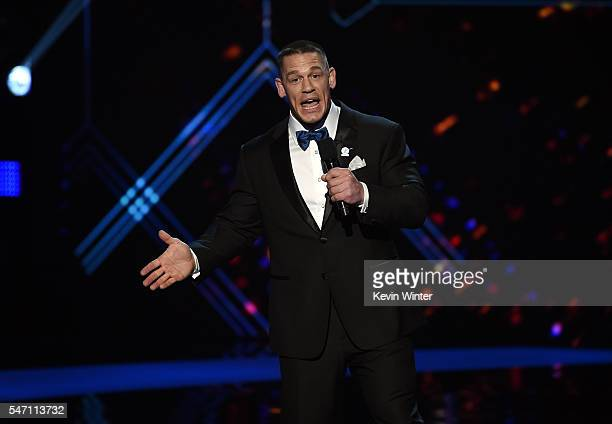 Host John Cena speaks onstage during the 2016 ESPYS at Microsoft Theater on July 13 2016 in Los Angeles California