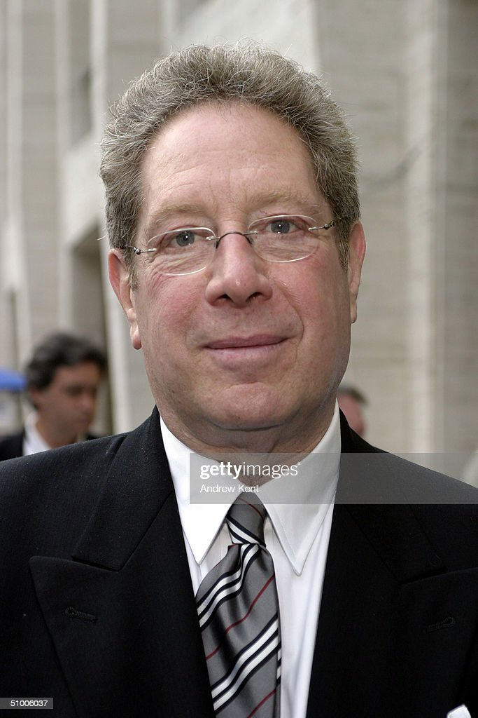 Host John Sterling poses outside before MODA Entertainment's Tribute Screening Of 'Pride Of The Yankees' at Lincoln Center on June 28, 2004 in New York City.
