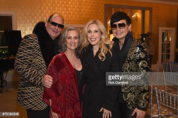 Host Johnathon Arndt Susan Galeas Kim Campbell and host Newman Arndt attend ACM Lifting Lives featuring Little Big Town hosted and underwritten by...