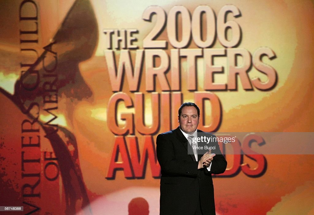 Host Jon Favreau speaks onstage during the 2006 Writers Guild Awards held at The Hollywood Palladium on February 4, 2006 in Hollywood, California.