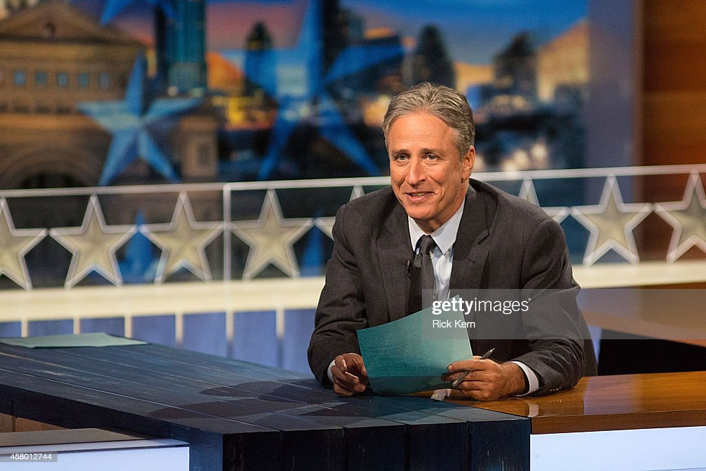 Host Jon Stewart at 'The Daily Show with Jon Stewart' covers the Midterm elections in Austin with 'Democalypse 2014: South By South Mess' at ZACH Theatre on October 28, 2014 in Austin, Texas.