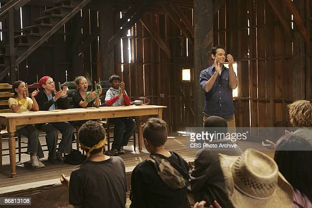 Host Jonathan Karsh at a town hall meeting in KID NATIONthe new reality series which will premiere Wednesdays on the CBS Television Network KID...