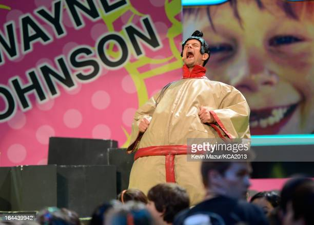 Host Josh Duhamel performs during Nickelodeon's 26th Annual Kids' Choice Awards at USC Galen Center on March 23 2013 in Los Angeles California