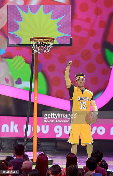 Host Josh Duhamel speaks onstage during Nickelodeon's 26th Annual Kids' Choice Awards at USC Galen Center on March 23 2013 in Los Angeles California
