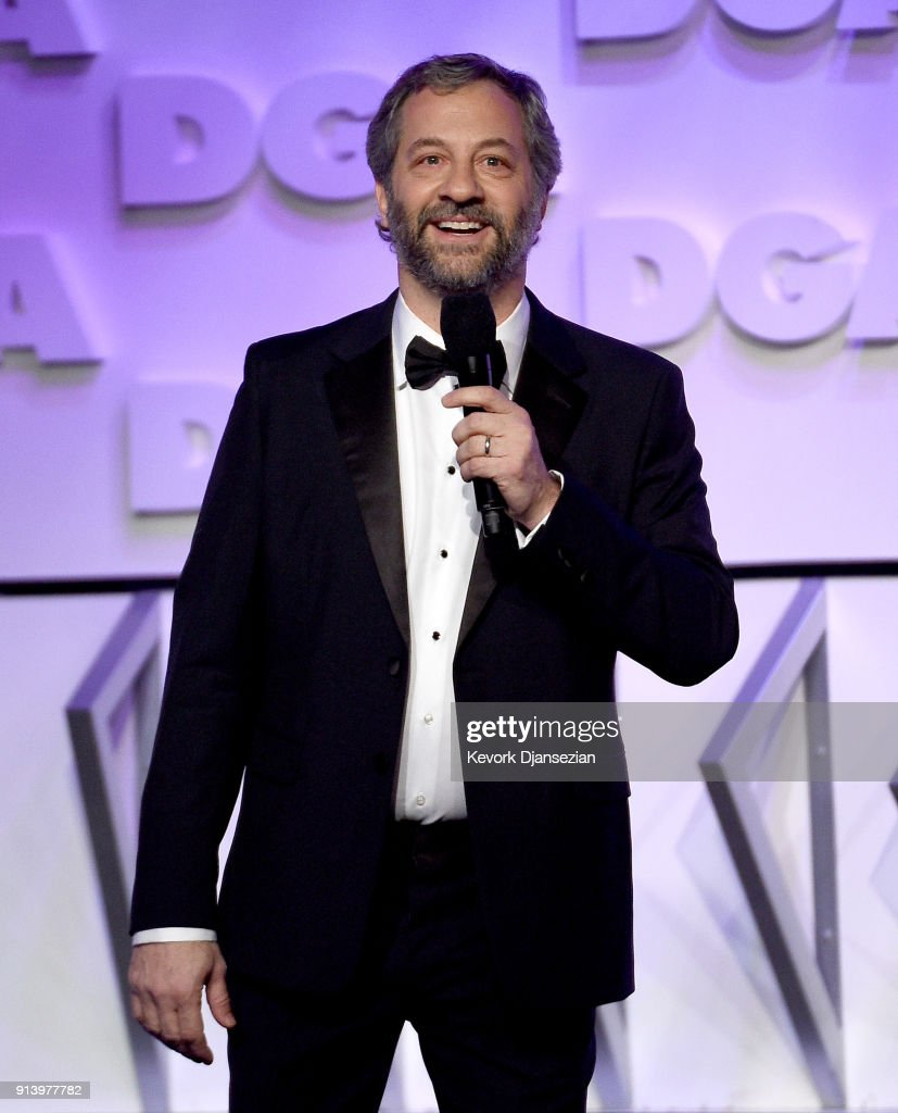 Host Judd Apatow speaks onstage during the 70th Annual Directors Guild Of America Awards at The Beverly Hilton Hotel on February 3, 2018 in Beverly Hills, California.